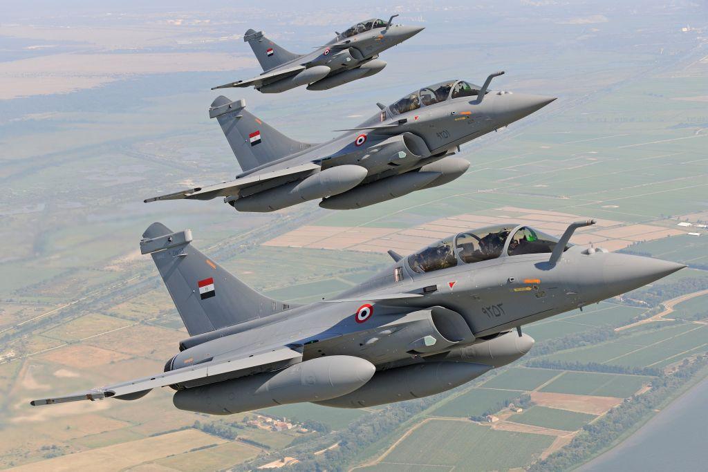 مقاتلات رافال تابعة لسلاح الجو المصري