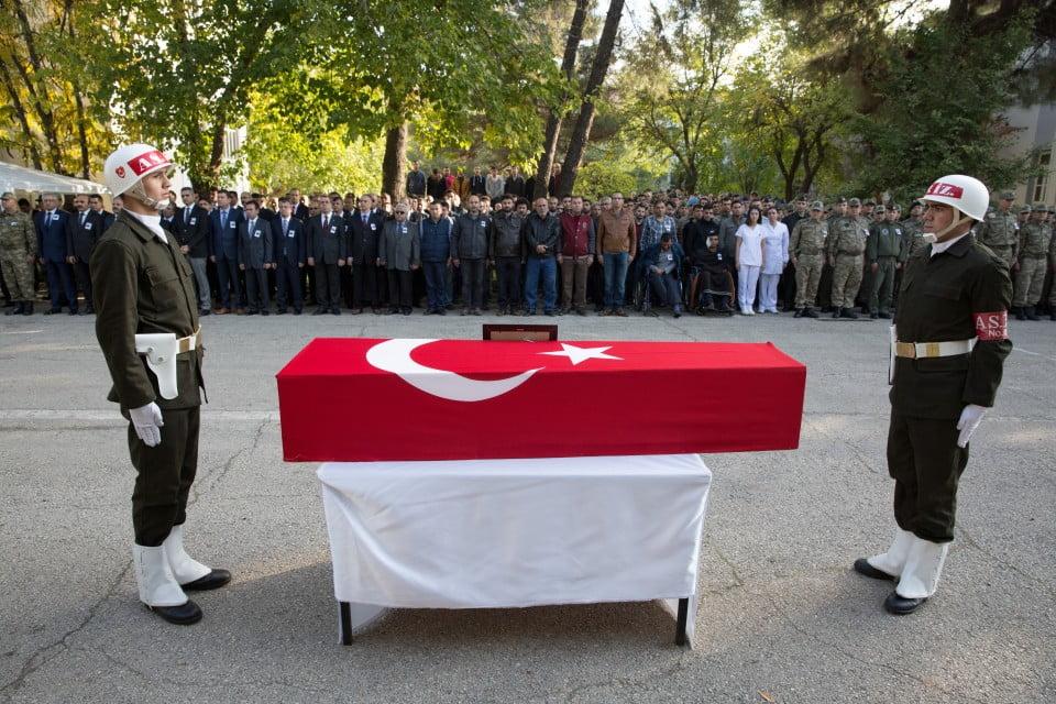 استشهاد جندي تركي شرقي البلاد (صورة)