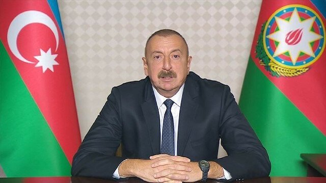 الرئيس الأذربيجانييعلن النصر في قره باغ