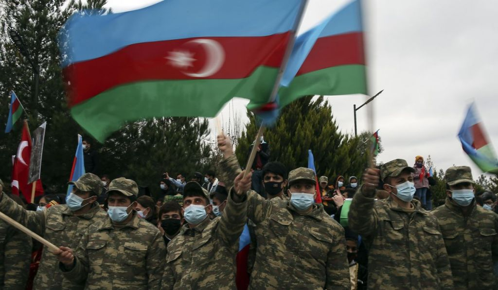 احتفالات جنود أذريين بعد نصر كاراباخ