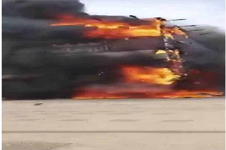 حريق كبير في أحد مصانع الأقمشة