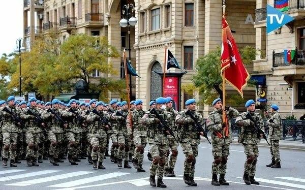 جانب من احتفالات أذربيجان بتحرير كاراباخ التي يشارك فيها الرئيس أردوغان