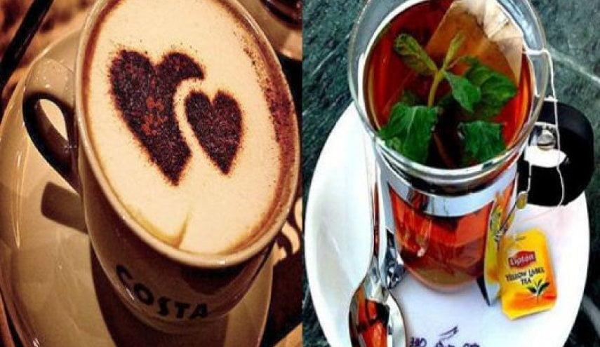 أيهما أفضل القهوة أم الشاي