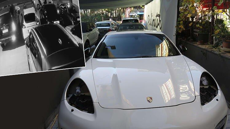 """سرقة مصابيح سيارة فاخرة من داخل معرض في كاديكوي في """"زمن قياسي"""""""
