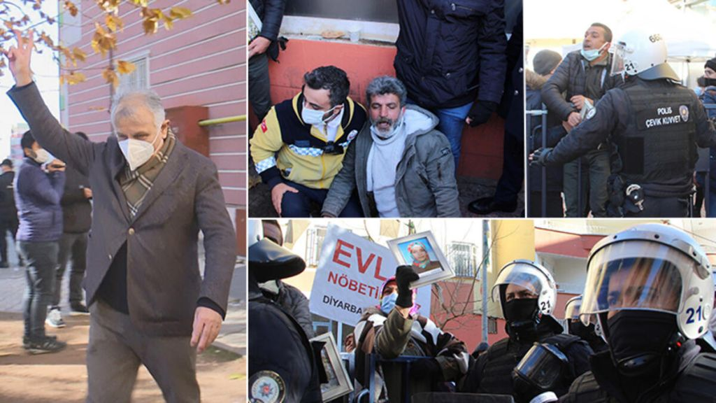 """أمهات يواصلن الاحتجاج أمام مبنى """"الشعوب الديمقراطي"""" في ديار بكر"""