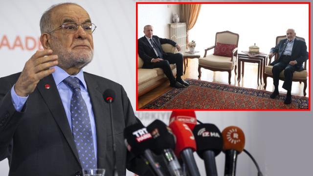 زيارة أردوغان لرئيس المجلس الاستشاري الأعلى لحزب السعادة (في الإطار)