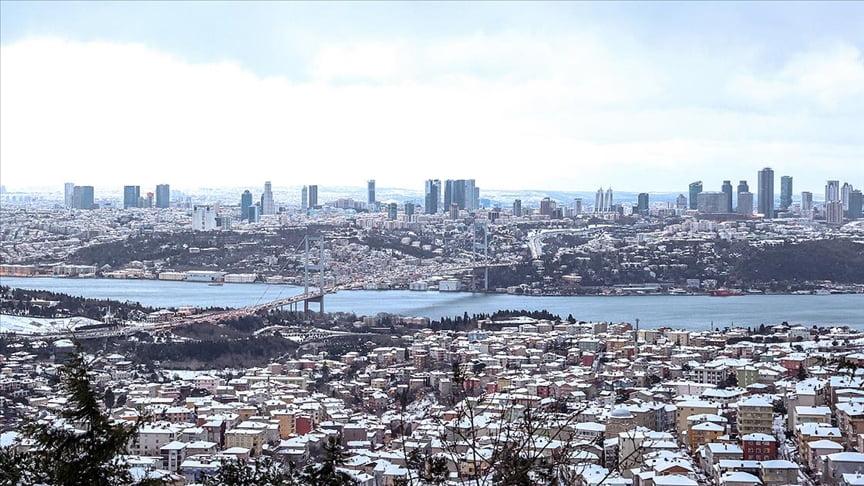 تساقط الثلوج على اسطنبول