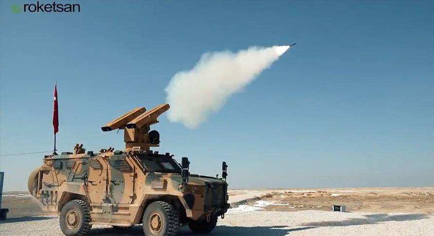 """نظام الدفاع الجوي """"صونغور"""" يضرب هدفًا متحركًا خلال الاختبارات"""
