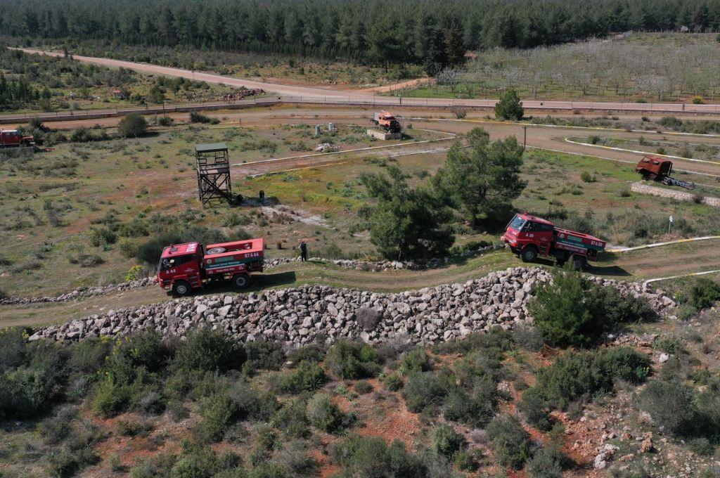 جانب من برنامج التدريب التركي على مكافحة الحرائق