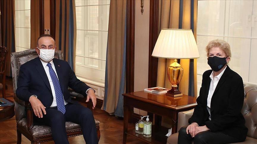 وزير الخارجية التركي يلتقي مستشارة أممية للتحضير لاجتماع بشأن القضية القبرصية