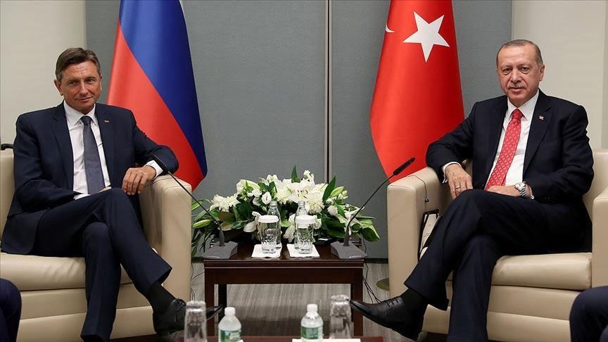 الرئيس أردوغان ونظيره السلوفيني