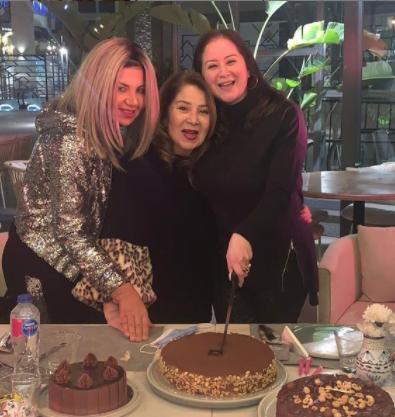بالصور..بوسي شلبي تحتفل مع مي نور الشريف في عيد ميلادها ال40