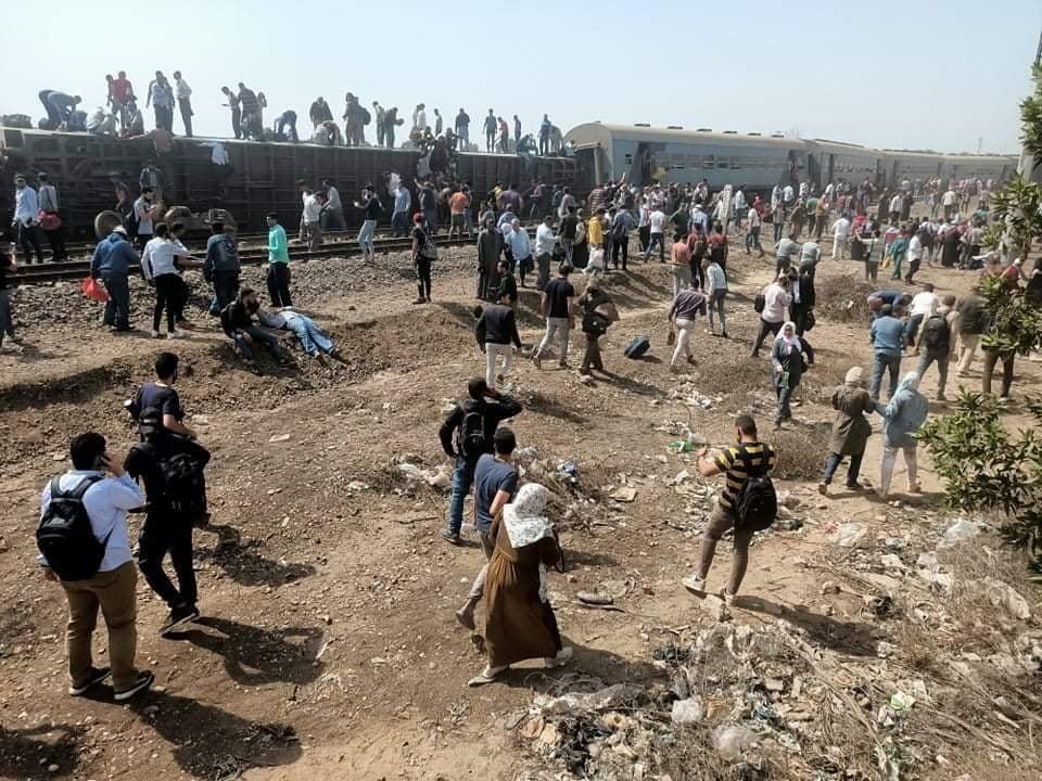 عاجل: أكثر من 100 إصابة بانقلاب قطار جديد في مصر