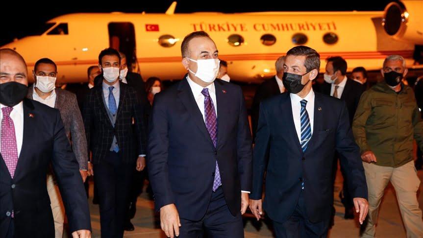 وزير الخارجية التركي يصل قبرص التركية لإجراء محادثات بشأن القضية القبرصية