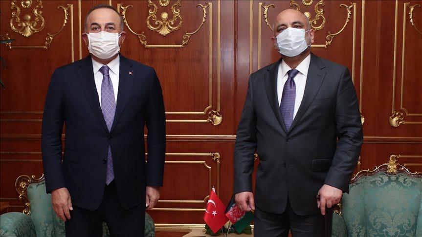وزير الخارجية التركي يبحث مع نظيره الأفعاني عملية السلام