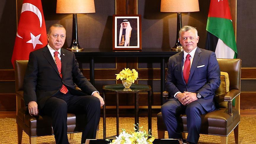 عاجل: الرئيس أردوغان يهاتف ملك الأردن بعد المحاولة الانقلابية