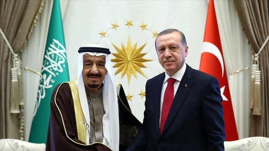 أردوغان يبحث مع العاهل السعودي