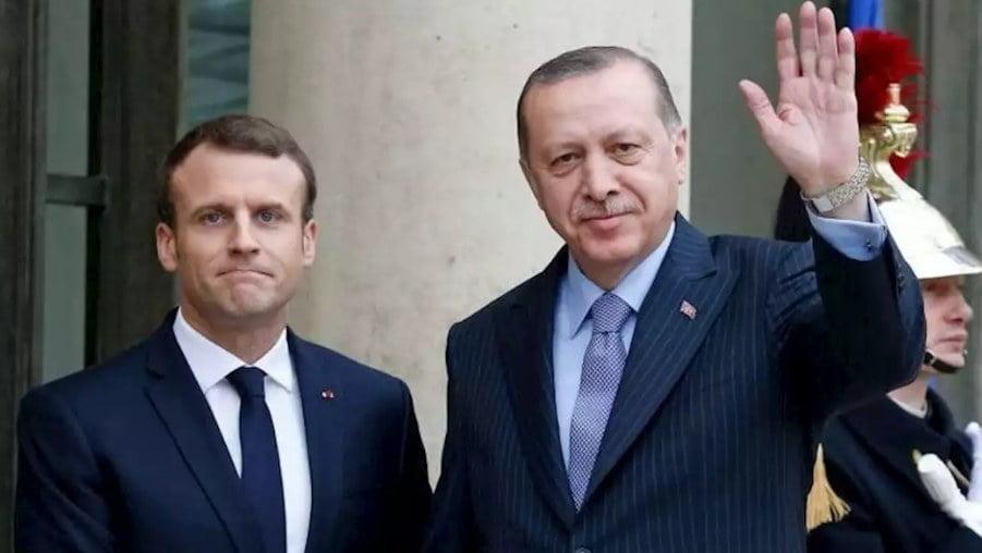أردوغان يلتقي بنظيره الفرنسي على هامش قمة الناتو