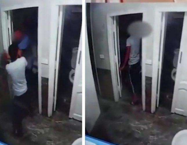 موظف يعتدي بوحشية على طفل
